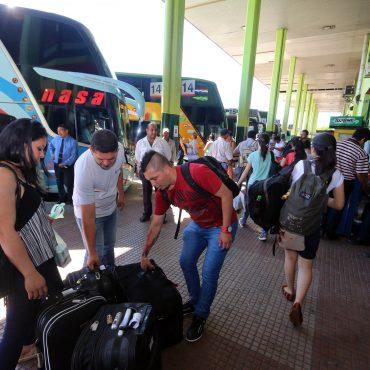 2.500.000 personas pasaron por la Terminal de Omnibus de Asunción Durante el mes de diciembre